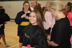Saint Ursula Academy Hosts Hair Cutting Event for Charity