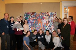 "Saint Ursula Academy Students Create and Donate ""Marks of Empowerment"" Community Art Piece"