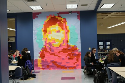 Malala Post It Art