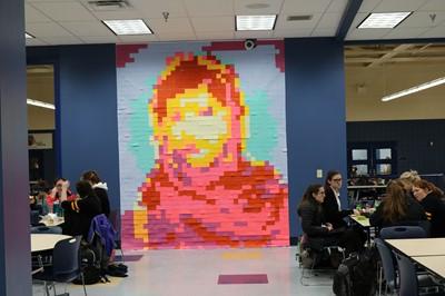 Malala Post It Art