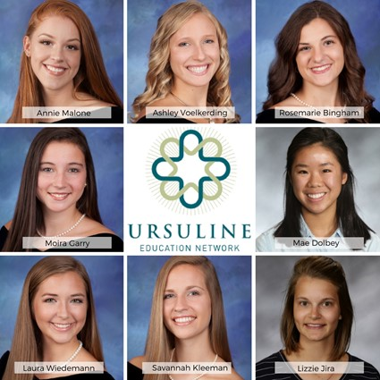 Eight Saint Ursula Academy Students Honored by Ursuline Education Network for Community Service