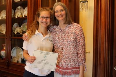 Julie Ahrnsen and her mom