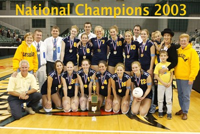 2003 Volleyball National Champions