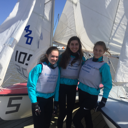 Cincinnati, Ohio, February 21, 2020– Five students from Saint Ursula Academy experienced a taste of New Orleans last weekend, while sailing with sisters from Ursuline Academy of New Orleans.  The Saint Ursula students sail with the local Cowan Lake Sailin