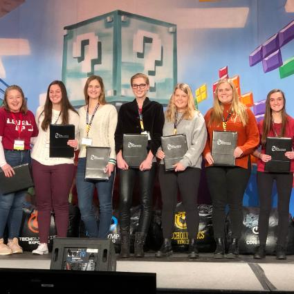 Winning TechOlympics team from Saint Ursula