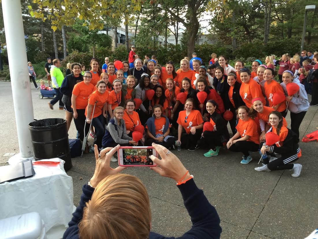 Saint Ursula Academy participated in the Light the Night Walk