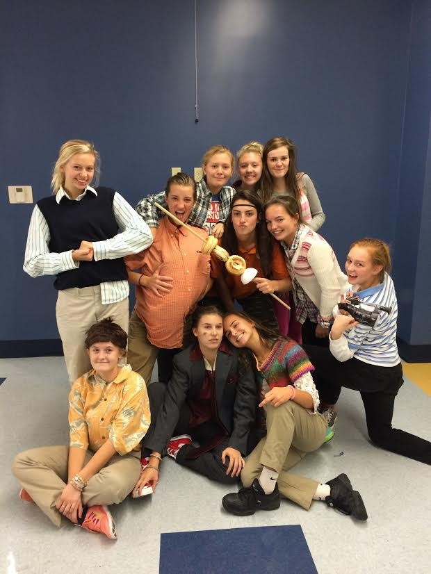 "The ""i Carly"" crew won the student Halloween costume contest"