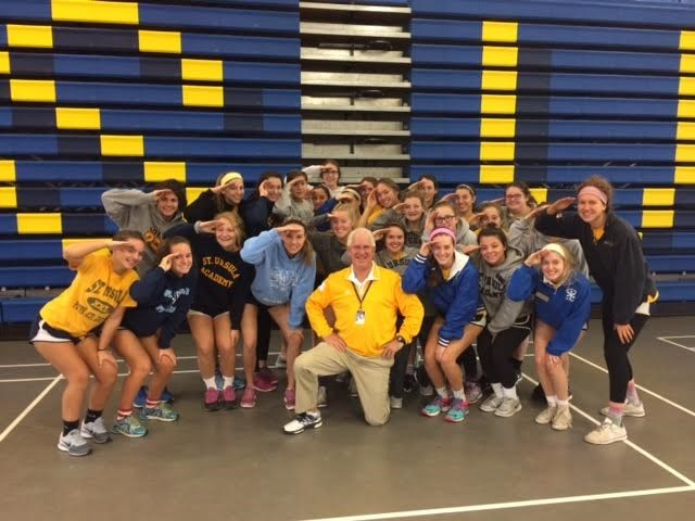 Students Celebrate Veterans' Day with one of SUA's Four veterans, Athletic Director Mike Sip