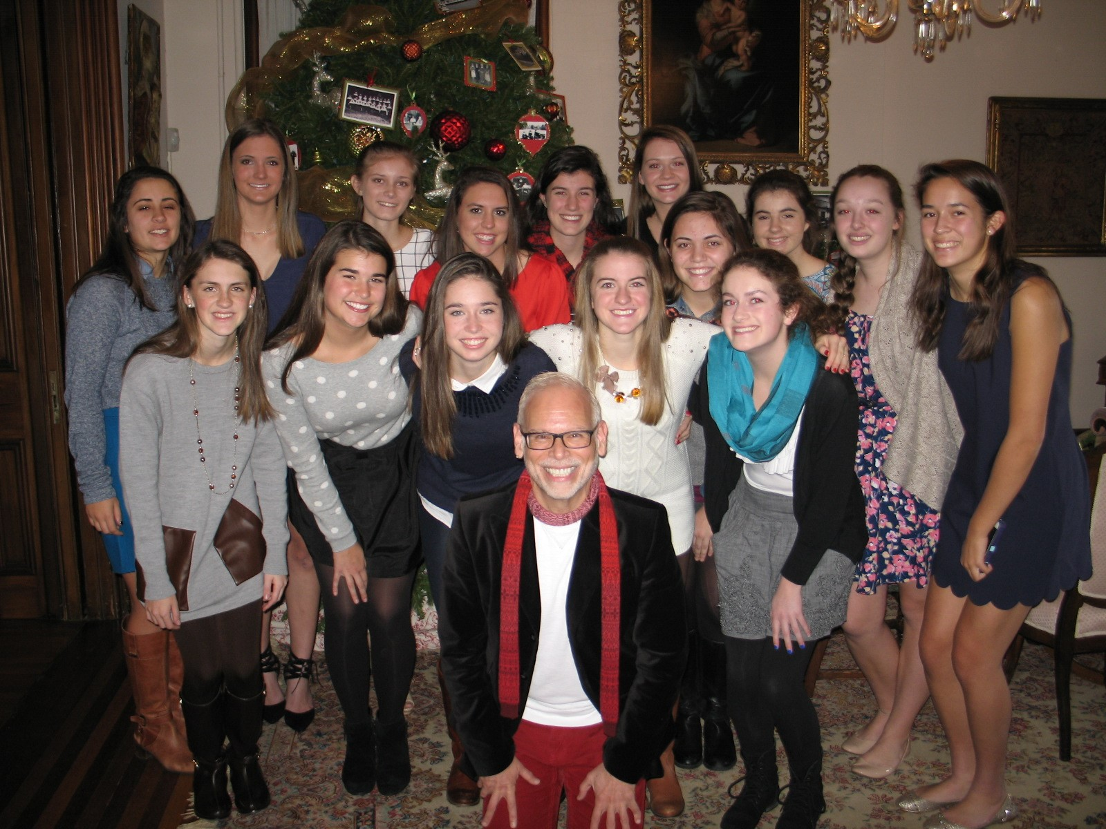 French Honor Society students recently celebrated Christmas in our parlors