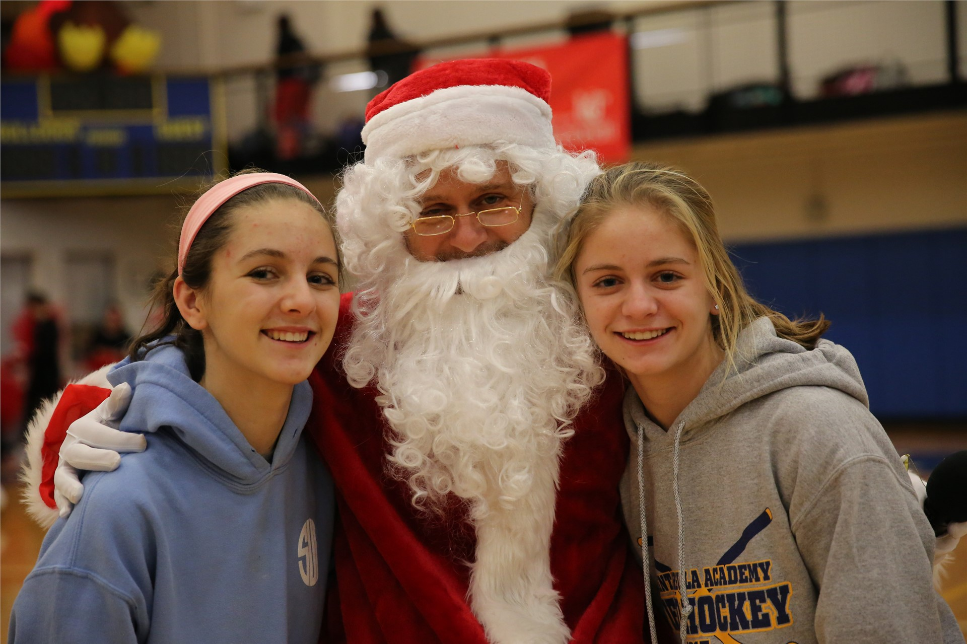 Santa paid SUA students a visit during the Pep Rally