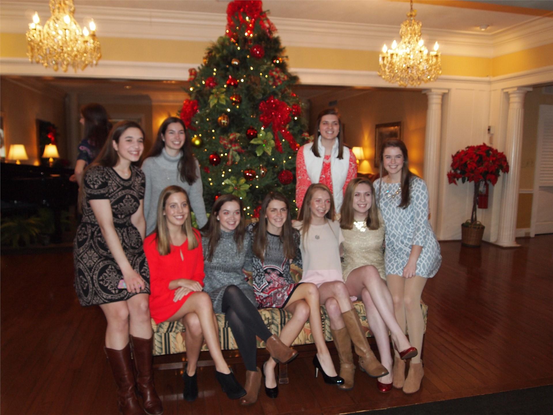 Enjoying the Christmas season at the Senior Christmas Luncheon