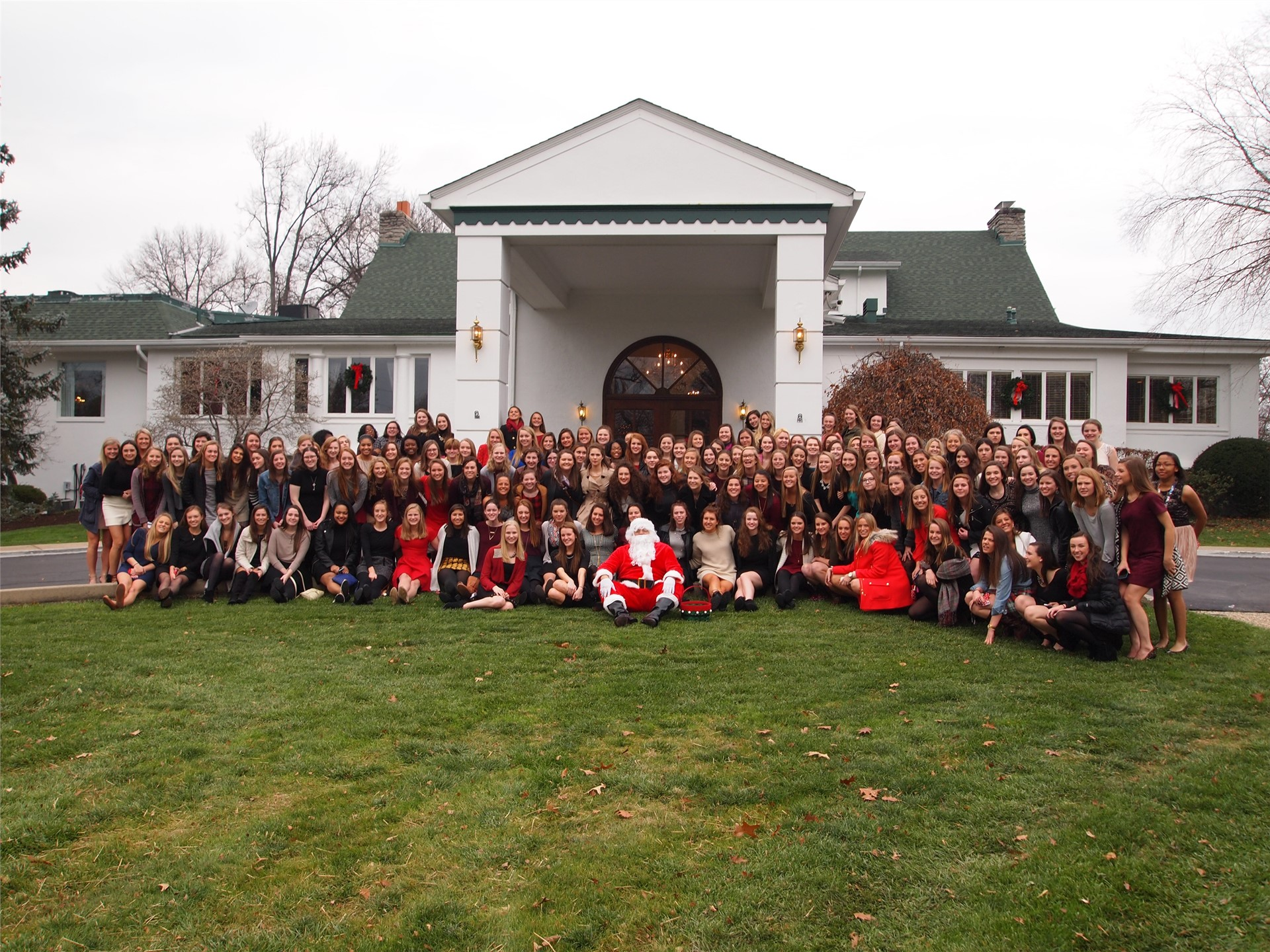 The senior class posed for this group pictures at the Christmas Luncheon