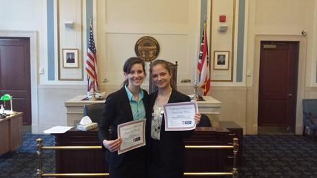 Mock Trial Awards:  Alexandra Goss-Best Attorney & Ashley Davis-Best Witness