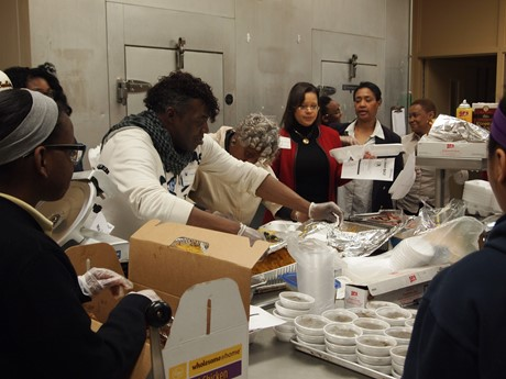 "Students were treated to the annual ""Soul Food Lunch"" to celebrate Black History Month"