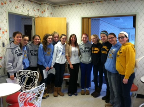 Thank you to the Freshmen Rookie Club members who volunteered at St. Margaret Hall on MLK Day