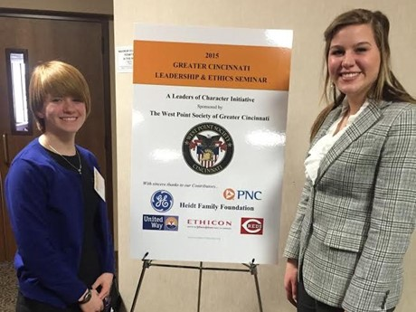 Maddie Gervason and Brynna Walchle took the West Point Leadership and Ethics Seminar