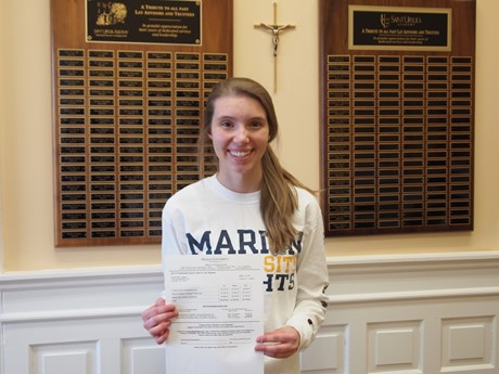 Emma Cassani '15 earned a Marian U award for the San Damiano Scholars Program for Church Leaders
