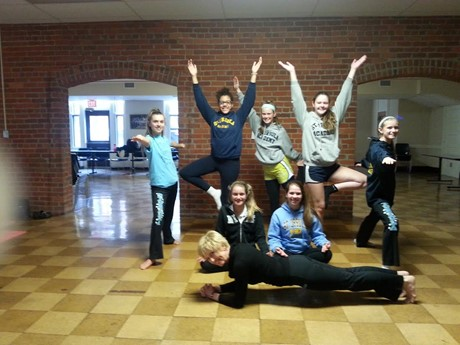 The SUA Yoga Club is staying fit and healthy!