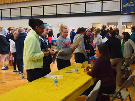 Saint Ursula students explored career choices at the annual Career Fair