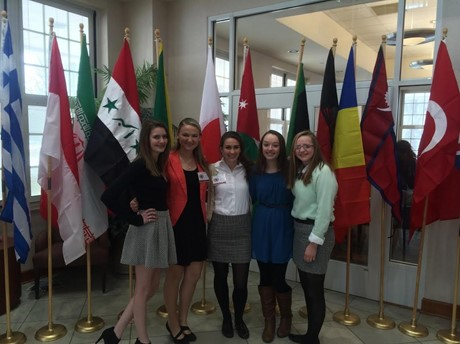 "St. Ursula's Model United Nations members participated in a ""Model APEC"" at U.C."