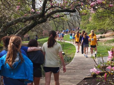SUA Walk 2015 through area neighborhoods of Eden Park and Mt. Adams