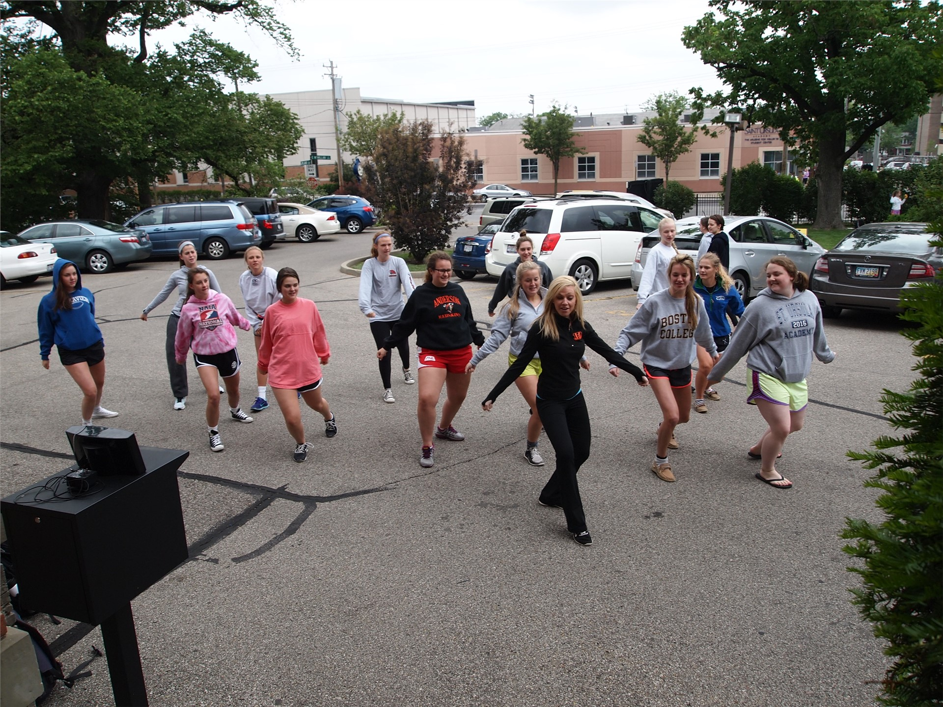 Some students took a dance break to help de-stress during final exams