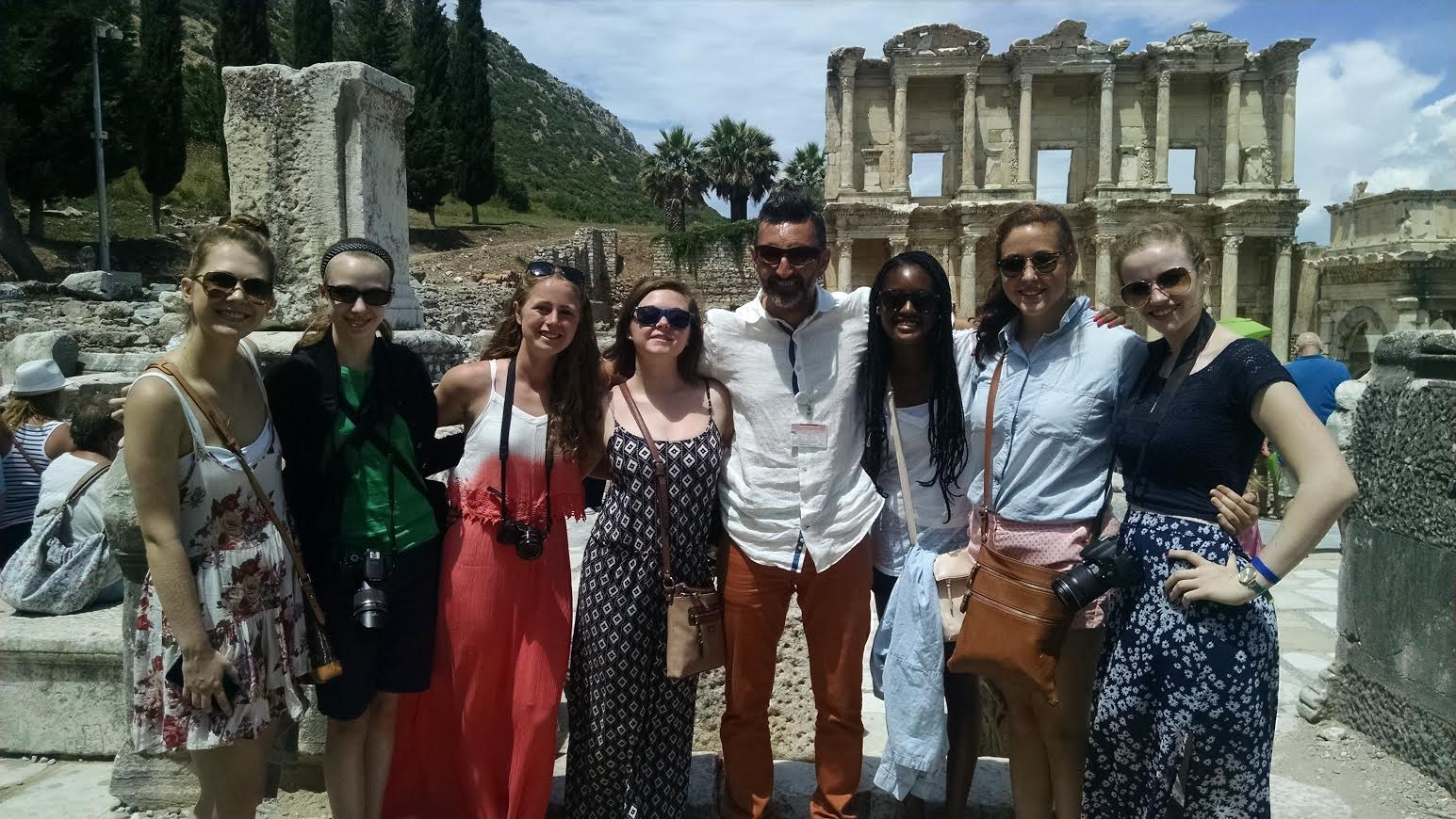 SUA's Ms. Hammond traveled with 7 students this summer to Turkey, Greece, and Rome