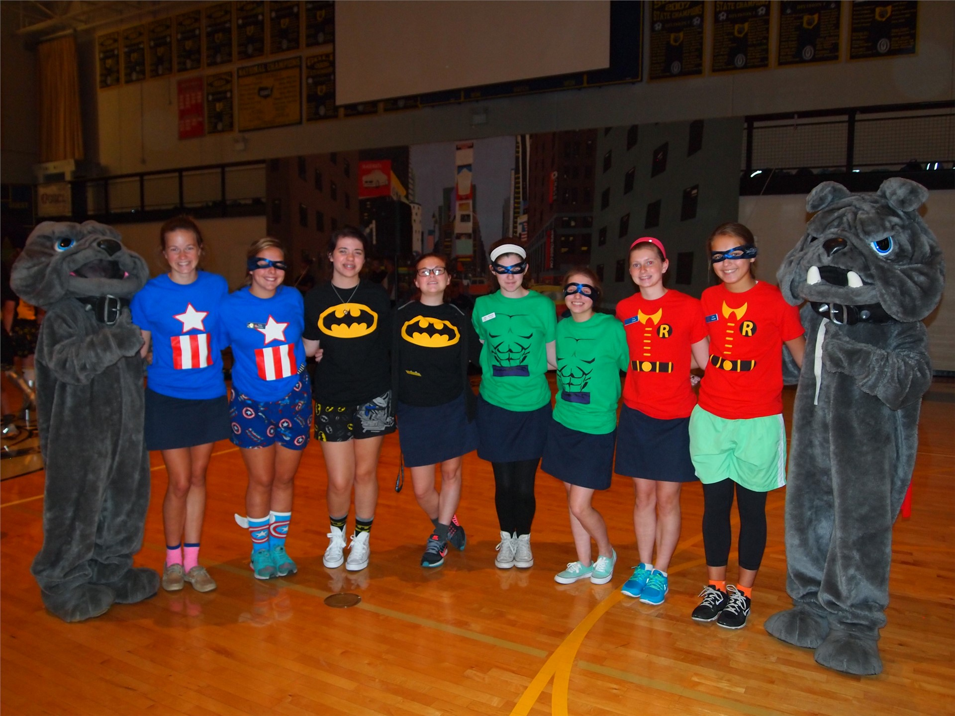 SUA welcomed area 8th graders for Dawg Day: Our theme was Superheroes!
