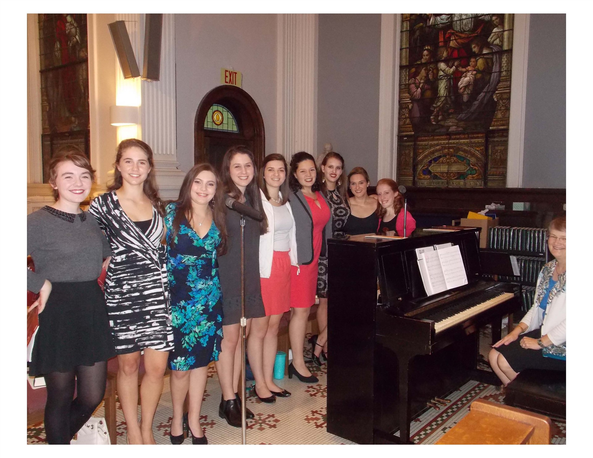 The St. Ursula Vocal Ensemble sings for the Alumnae Reunion Mass