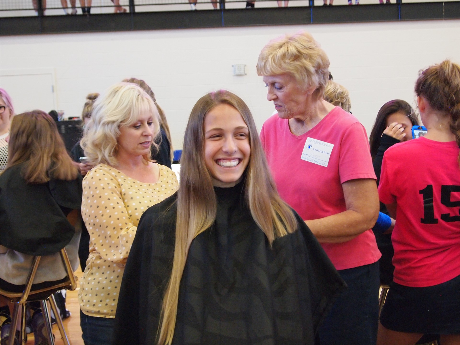 Freshman Melina Canter donated her hair with help from her grandmother and stylist Dawn Richards
