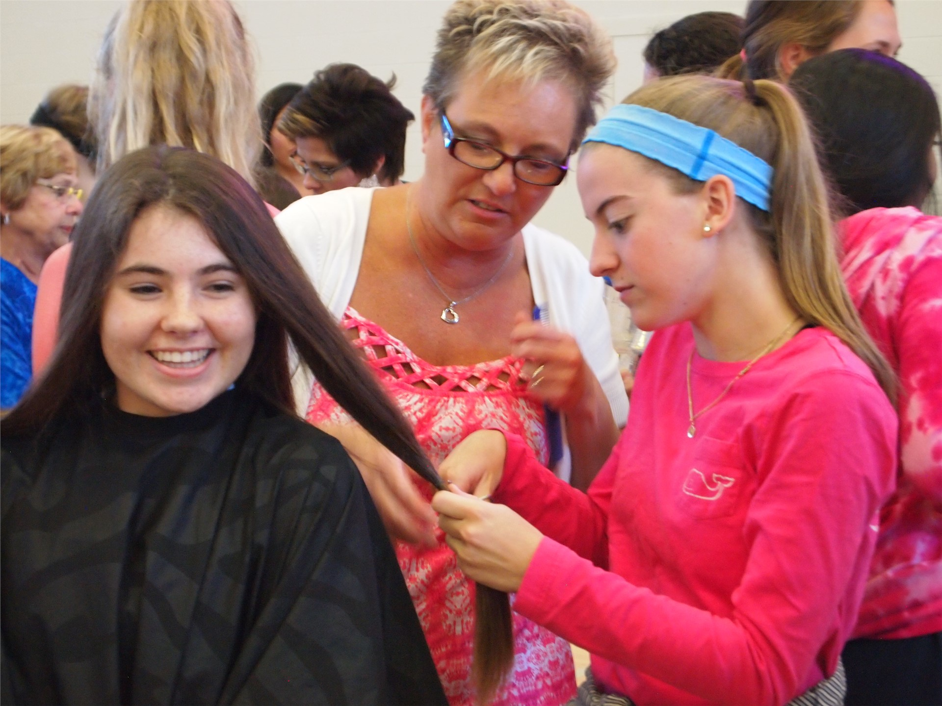 61 young women donated hair for cancer patients at SUA's Beautiful Lengths Event