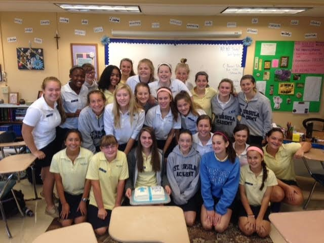 Ms. Mertens' freshman scripture class celebrated Bible Week with a student-made cake!