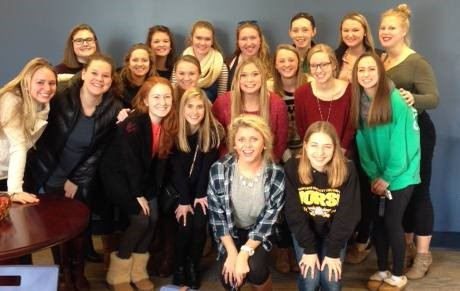 Several Class of 2015 members returned for the Annual SUA Cookie Exchange