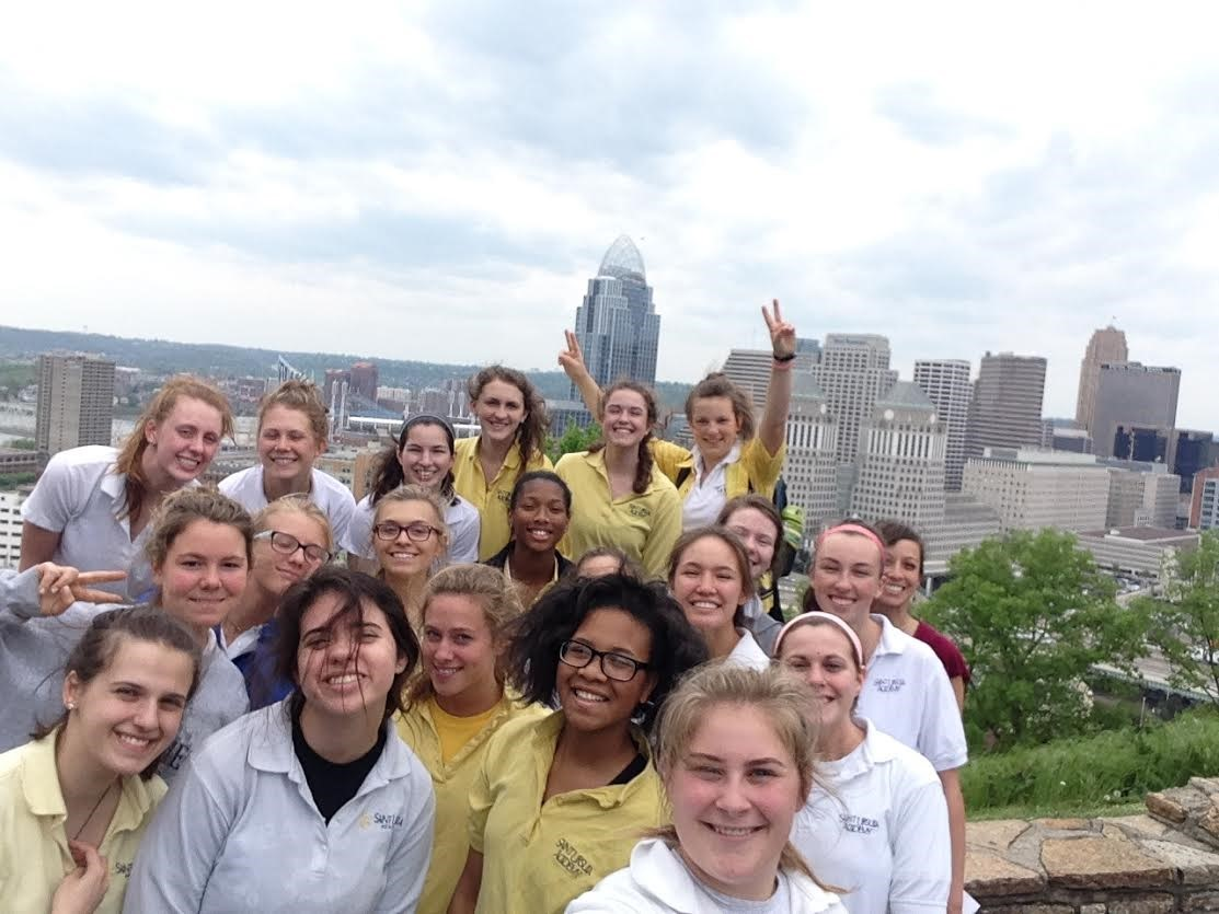 Mrs. Ewart's Cincinnati History Class took a walking tour of Mt. Adams.  #PrimeLocation