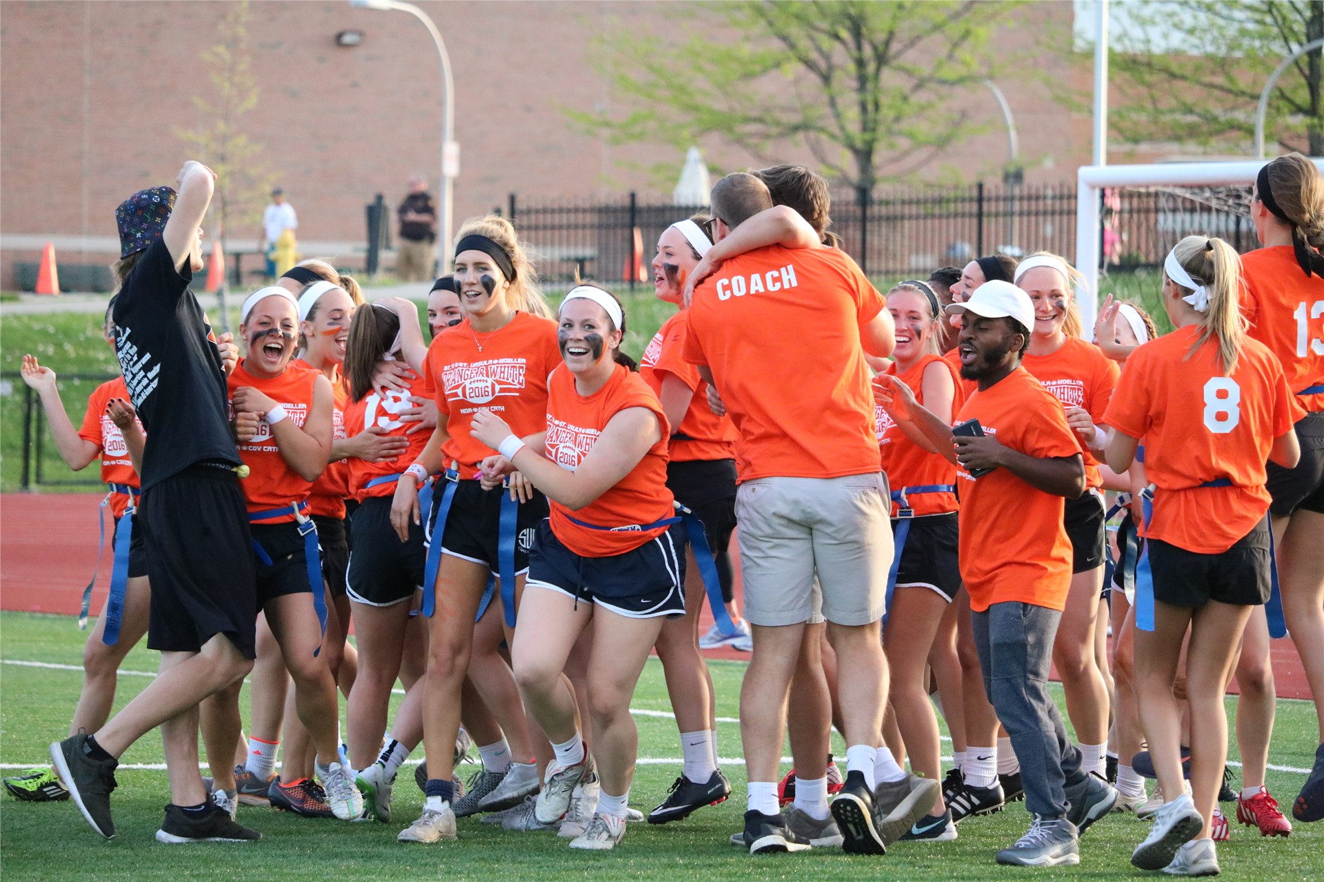 SUA topped NDA in the Orange and White Game to benefit Children's Hospital Leukemia and Lymphoma res