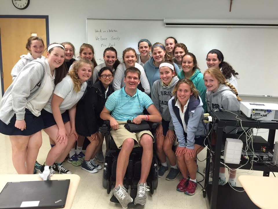 Mrs. Porters Health Class hears words of wisdom from guest Brad Fritz, disabled after a car accident
