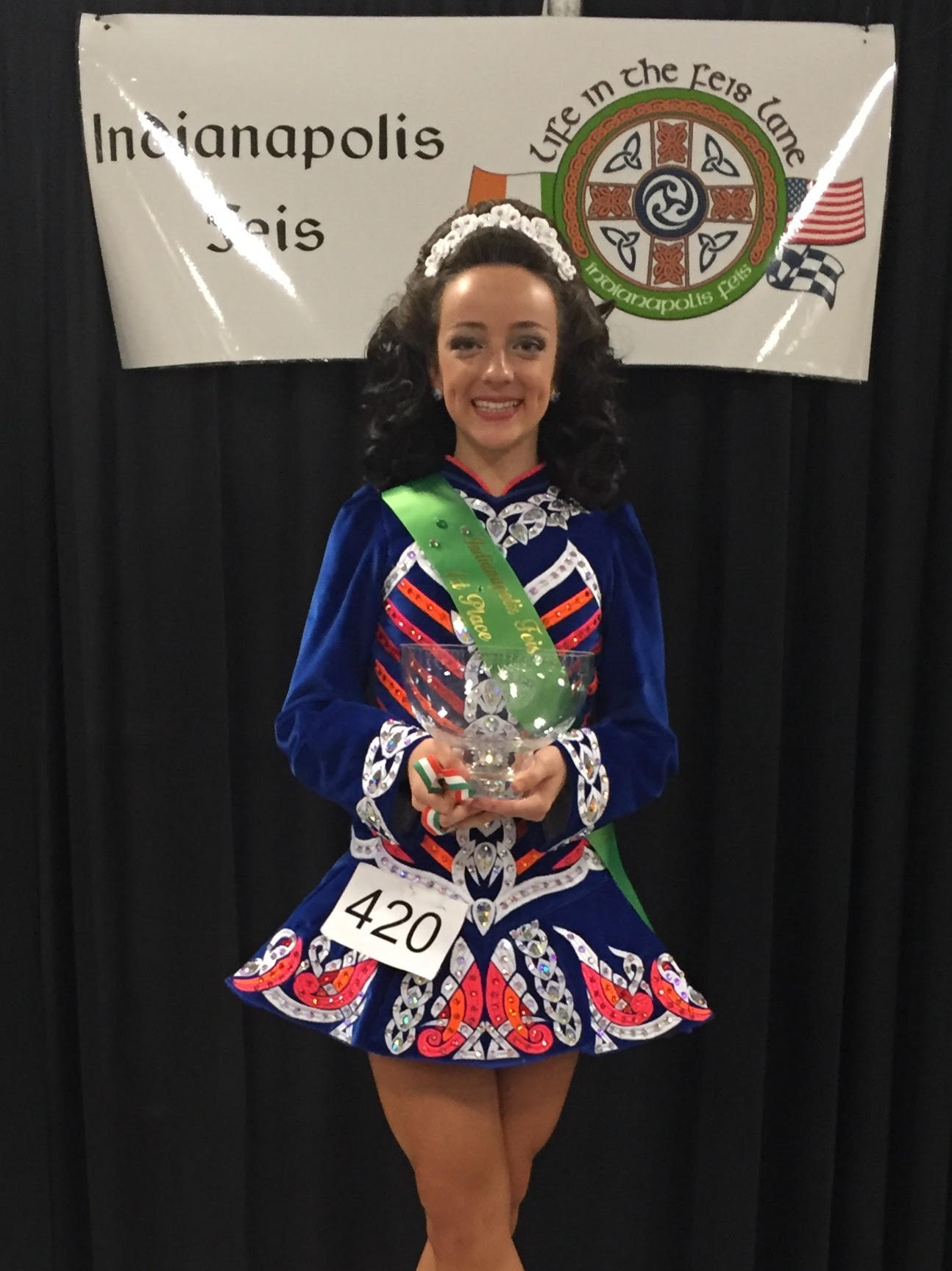 SUA's Hanna Hopple won first place in the Irish Dance Open Championship at the Indianapolis Feis
